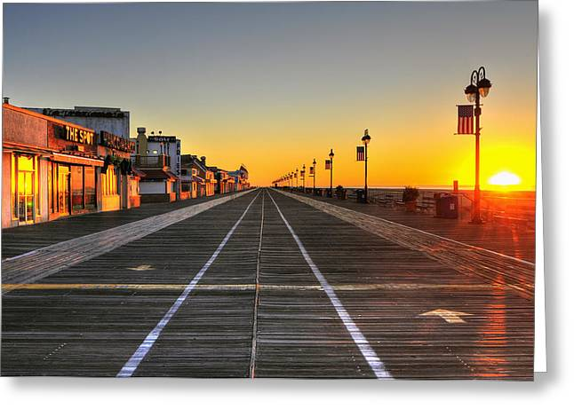Morning On The Boardwalk 2 Greeting Card by Dan Myers