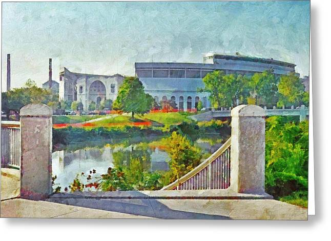 The Horseshoe By Morning Light. The Ohio State University Greeting Card
