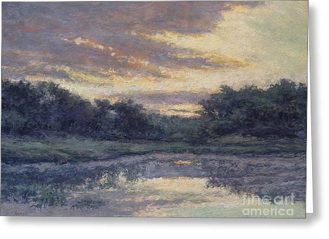 Morning On The Marsh / Wellfleet Greeting Card by Gregory Arnett