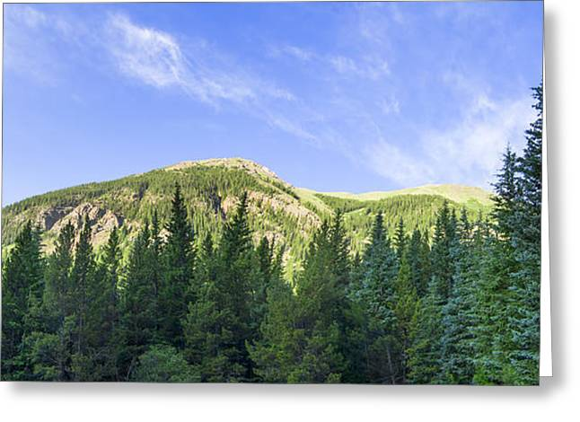 Morning On The Mountain Greeting Card by Mark Andrew Thomas