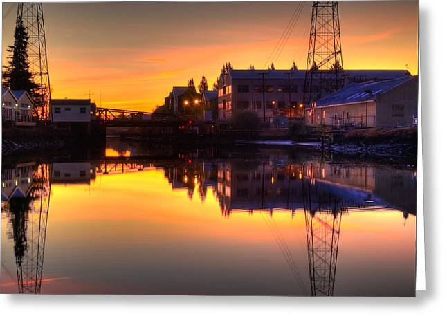 Morning On The River Greeting Card by Bill Gallagher