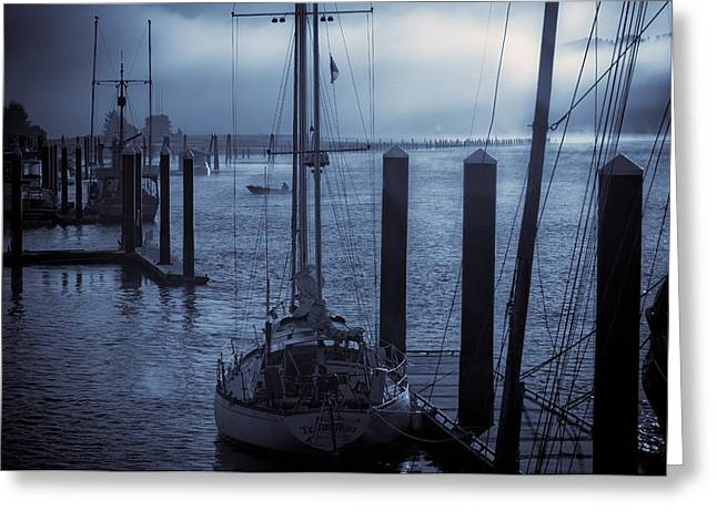 Morning On The Siuslaw Greeting Card by Michael Connor