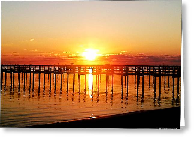 Morning Pier Greeting Card by Marty Gayler