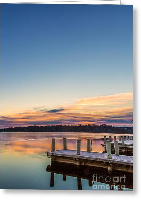Morning Pier Pressure Greeting Card by Andrew Slater