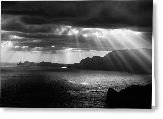 Morning Rays Greeting Card by Artfiction (andre Gehrmann)
