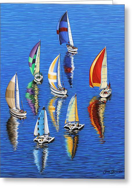 Greeting Card featuring the painting Morning Reflections by Jane Girardot