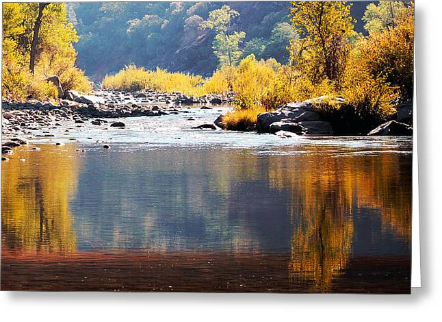 Morning Reflections Of Fall Greeting Card
