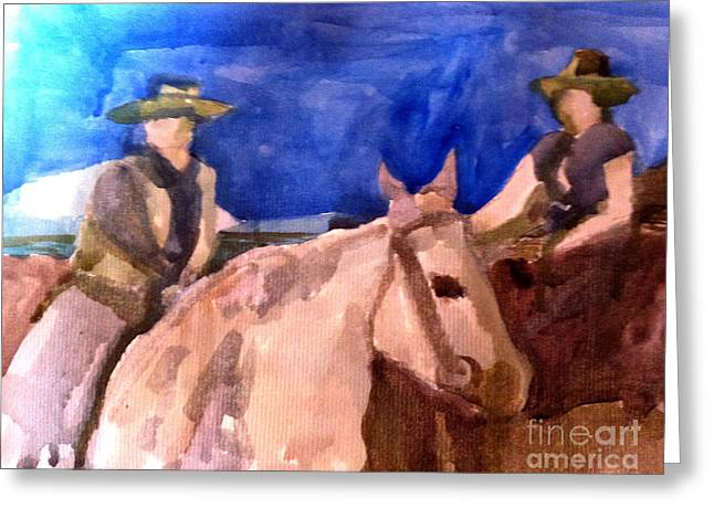 Morning Ride Greeting Card by Sandra Stone