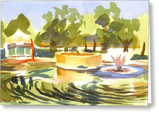 Morning Ripples At Ste. Marie Du Lac Pond Greeting Card by Kip DeVore