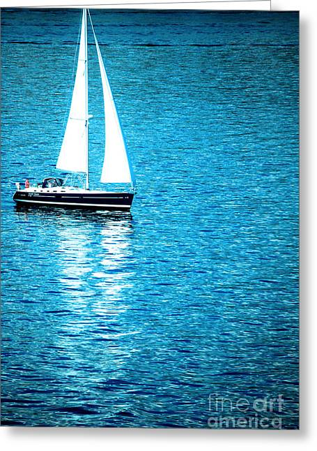 Morning Sail Greeting Card by Flamingo Graphix John Ellis