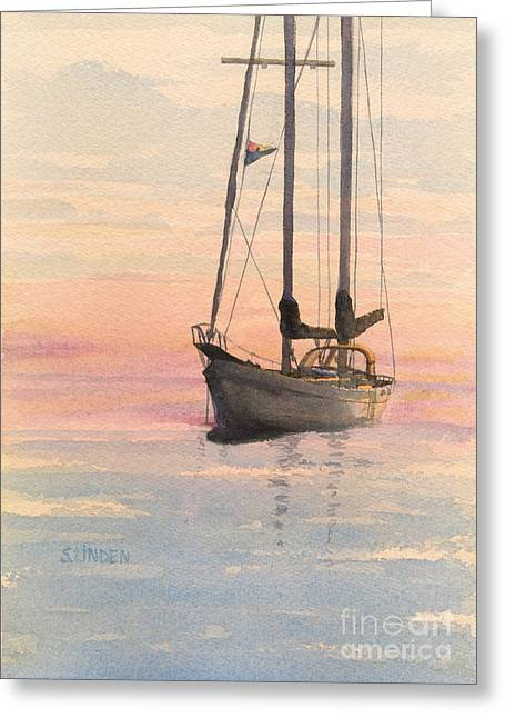 Morning Greeting Card by Sandy Linden