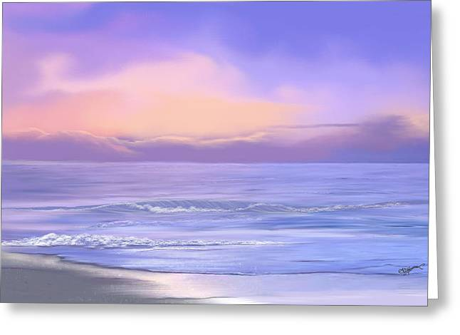 Greeting Card featuring the digital art Morning Sea Breeze by Anthony Fishburne