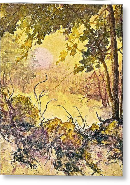 Morning Serenity Greeting Card by Carolyn Rosenberger