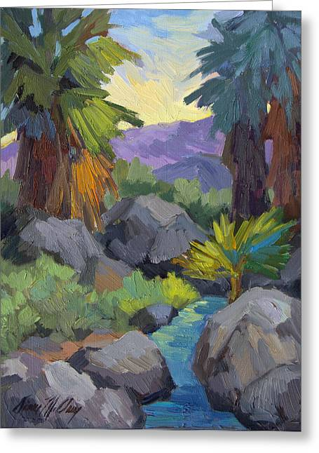 Morning Shade Andreas Canyon Greeting Card by Diane McClary