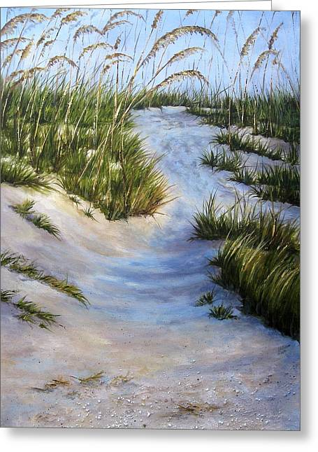 Greeting Card featuring the painting Morning Shadows by Mary McCullah