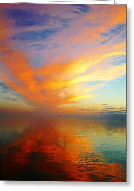 Morning Sky Ocracoke Nc Greeting Card
