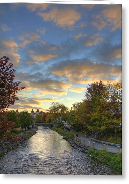 Morning Sky On The Fox River Greeting Card
