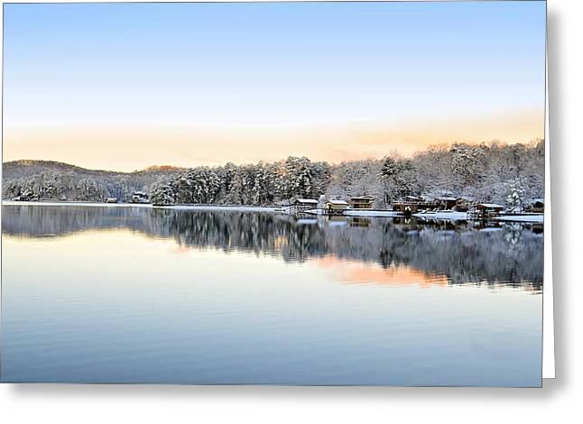 Morning Snowfall Greeting Card by Susan Leggett