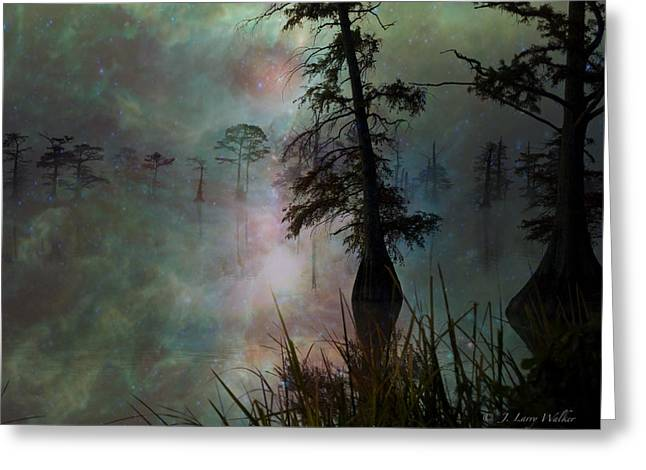 Greeting Card featuring the digital art Morning Solitude by J Larry Walker
