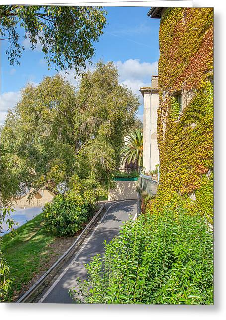 Morning Stroll In Beziers Greeting Card