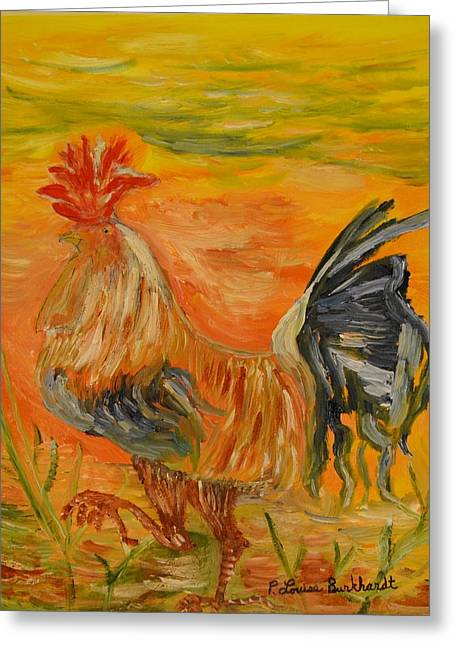 Morning Stroll Greeting Card by Louise Burkhardt