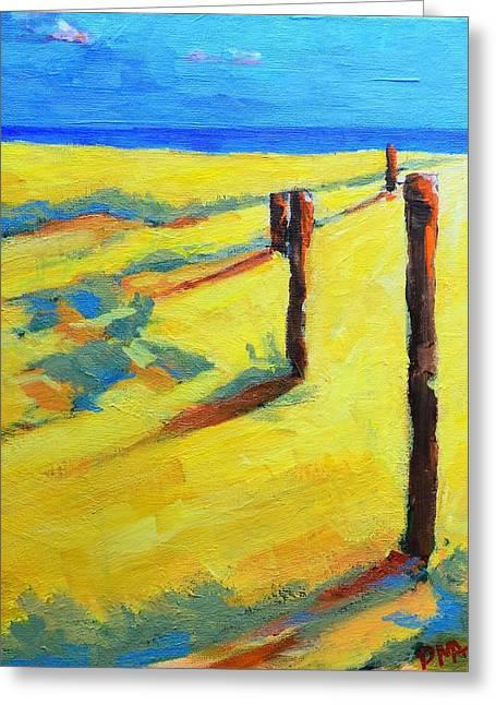 Morning Sun At The Beach Greeting Card