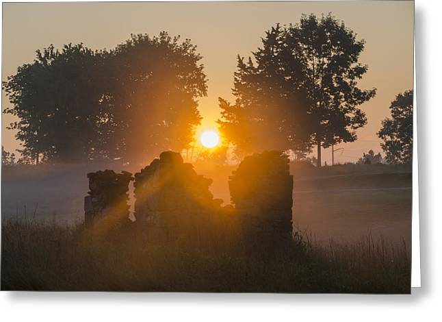 Morning Sunrise At Philadelphia Cricket Club Greeting Card
