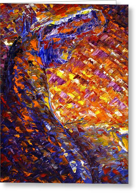 Greeting Card featuring the painting Morning Sunrise by Jennifer Godshalk