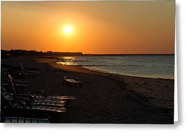 Greeting Card featuring the photograph Morning Sunrise Over The Cape by John Hoey