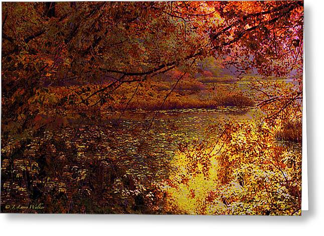 Morning Tranquility Greeting Card by J Larry Walker