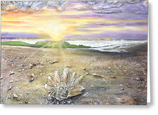 Greeting Card featuring the painting Morning Treasure by Dawn Harrell