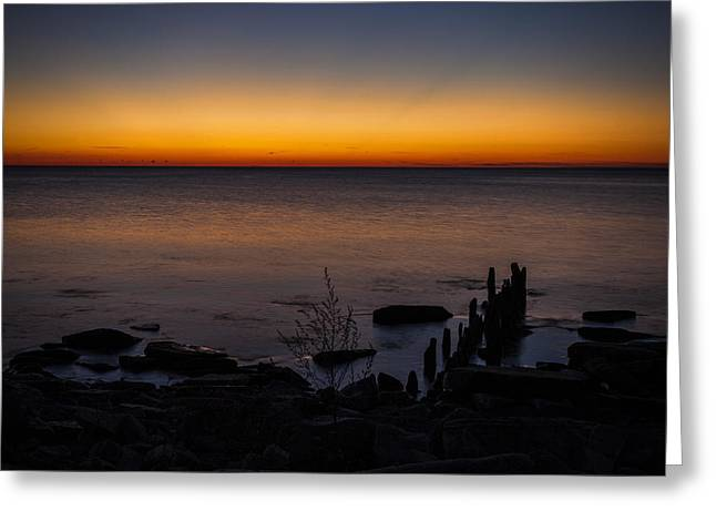 Morning Water Colors Greeting Card by CJ Schmit