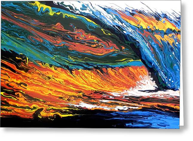 Morning Wave Greeting Card by Paul Miners