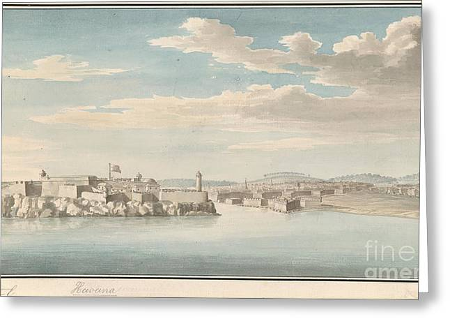 Moro Castle And Havana Greeting Card by British Library
