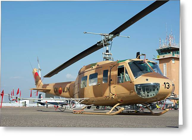 Moroccan Air Force Ab205a-1 Helicopter Greeting Card
