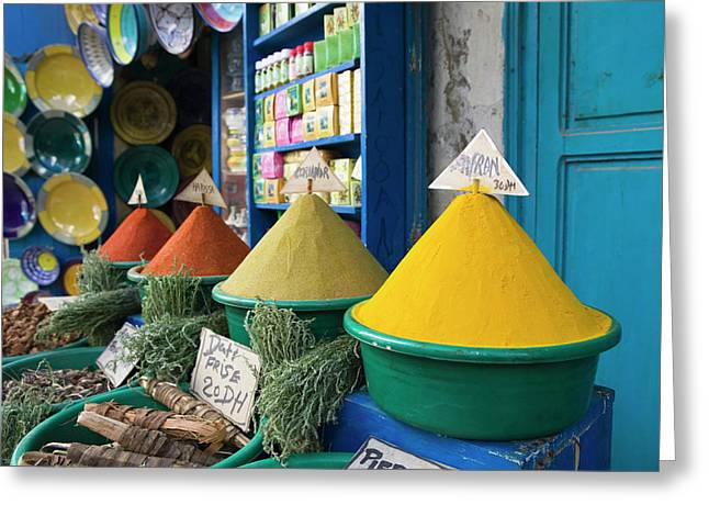Morocco, Atlantic Coast, Essaouira Greeting Card by Walter Bibikow