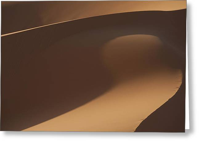 Morocco, Detail Of Sand Dunes In Erg Greeting Card by Ian Cumming