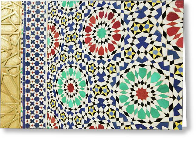 Morocco, Fes Fes, Jdid (royal Fes Greeting Card by Walter Bibikow