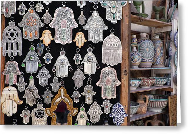 Morocco, Fez, Medina, Display Greeting Card by Emily Wilson