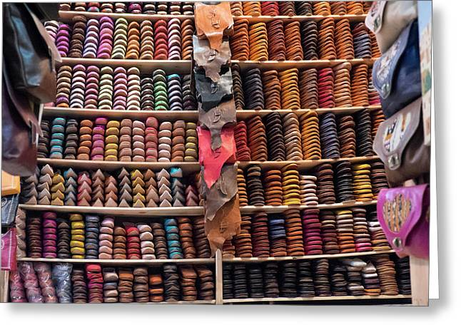 Morocco, Fez Tannery Greeting Card