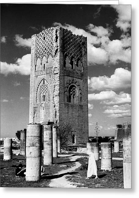 Morocco Hassan Tower Greeting Card