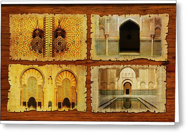 Morocco Heritage Poster 01 Greeting Card by Catf