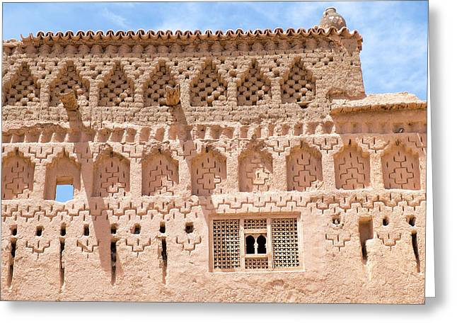 Morocco, Southern Morocco, Mud Walls Greeting Card by Emily Wilson