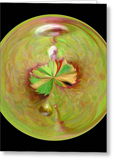 Morphed Art Globe 21 Greeting Card