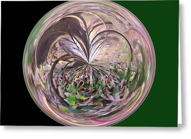Morphed Art Globe 36 Greeting Card