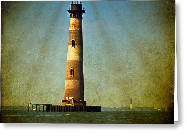 Morris Island Light Color Vintage Greeting Card