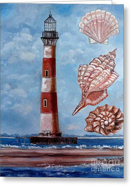 Morris Island Lighthouse Greeting Card by Julie Brugh Riffey