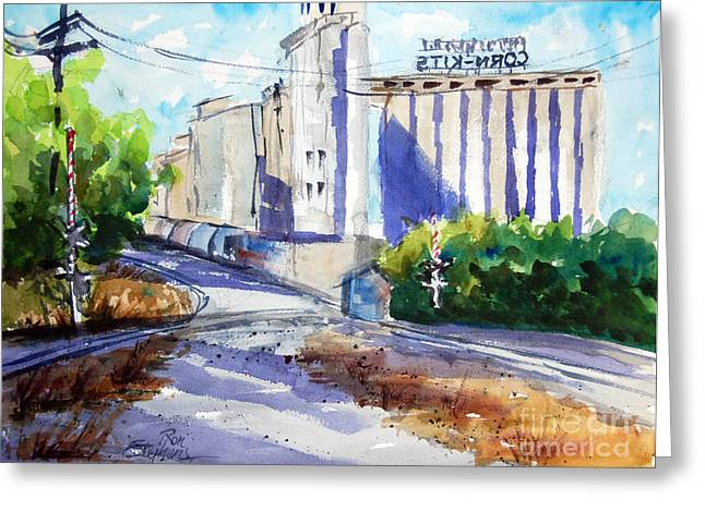 Morrisons Milling Co  Denton Tx Greeting Card by Ron Stephens