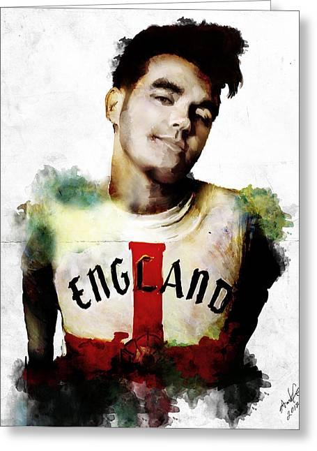 Morrissey Drawing by April Gann – Morrissey Birthday Card