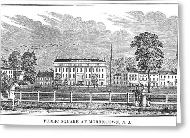 Greeting Card featuring the painting Morristown, 1844 by Granger